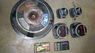equipo de sonido por piezas