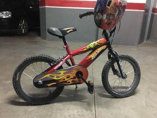 Bicicleta Hot Whels Roja