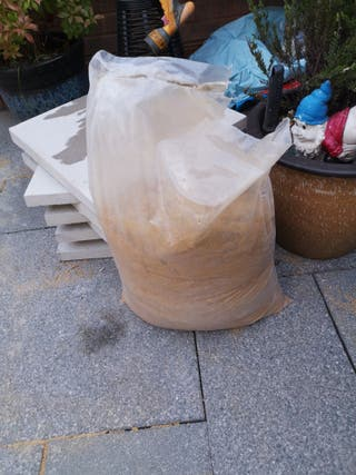patio slabs, cement, sand and bayliss