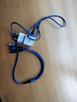 cargador ipad, tipo C y micro usb