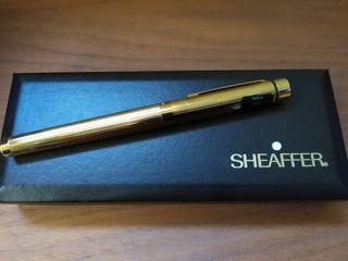Pluma Sheaffer chapada en oro galvanizado, de 14 k