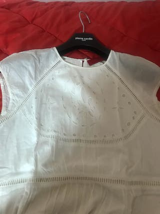 Vestido CH sin mangas blanco