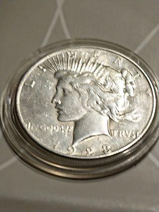 Moneda one dollar de plata de 1923 sanfrancisco
