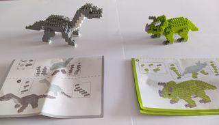 Dinosaurios bloques construcción
