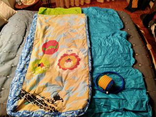 Saco de dormir niño con colchoneta hinchable