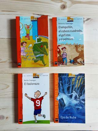 Pack 4 libros El Barco de Vapor a partir de 8 años