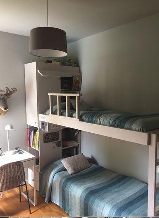 Conjunto de litera y cama nido