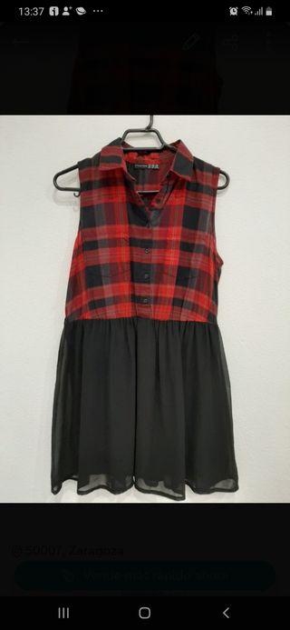 Vestido de cuadros escoceses