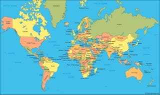 mapa político mundial
