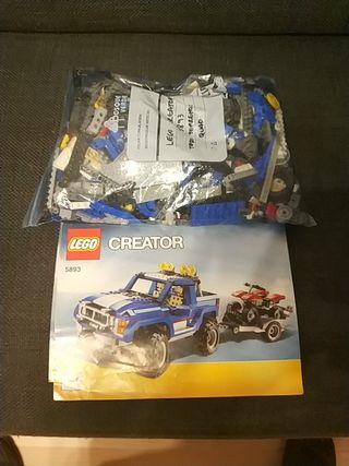 lego 5893 4x4 con quad