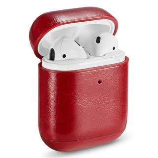 Funda Soft Apple Airpods (Leather Rojo)