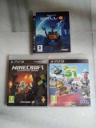 Lote de 3 Juegos PS3 nuevos.