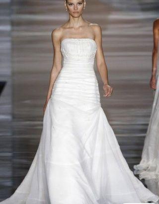 vestido novia talla 46-48 seda natural dupioni