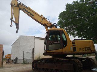 excavadora de cadenas komatsu pc200