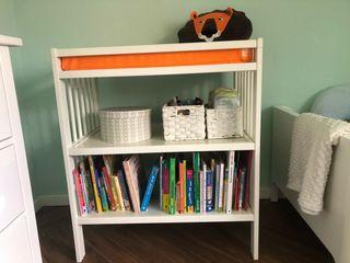 Cambiador bebé de madera blanco, Ikea Gulliver