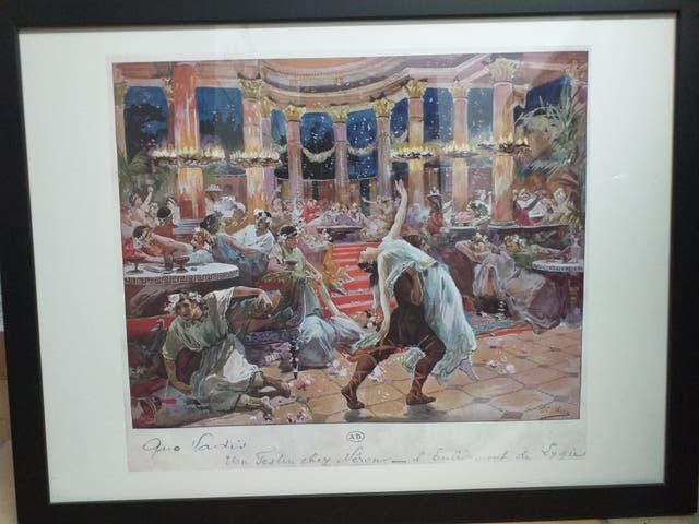 Quo Vadis. Reproduccion de pintura de U.Chec