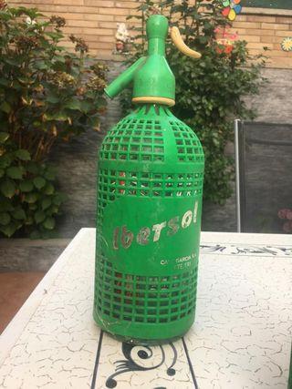 Sifon Vintage de color Verde. Marca Ibersol.
