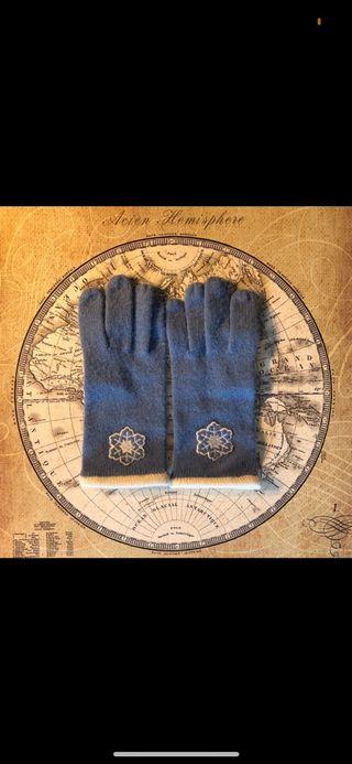 Guantes lana azules