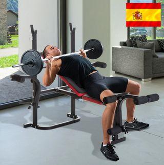 Banco de Musculación con Respaldo Ajustable Carga