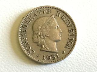 MONEDA 5 Céntimos. SUIZA. AÑO 1951