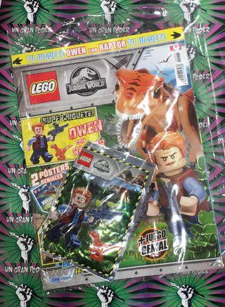 REVISTA LEGO JURASSIC WORLD #02 + MUÑECO