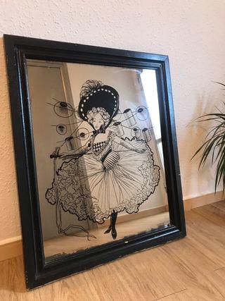 Espejo/cuadro pintado vintage
