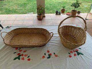 Canasto y cesta mimbre