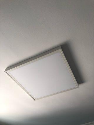 Panel led con marco para instalar en superficie