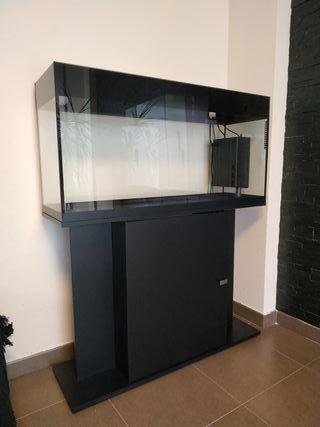 Acuario 130 litros AQUA LUX con mueble y filtro