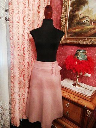 Falda Zara talla 36 rosa palo mariposa vuelo