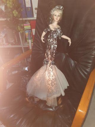 muñeca,de cerámica con luz
