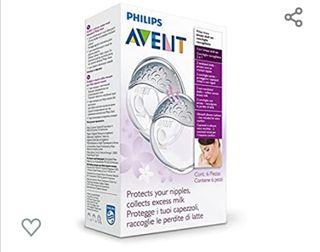 Conchas PHILIPS para pezones + recogida de leche