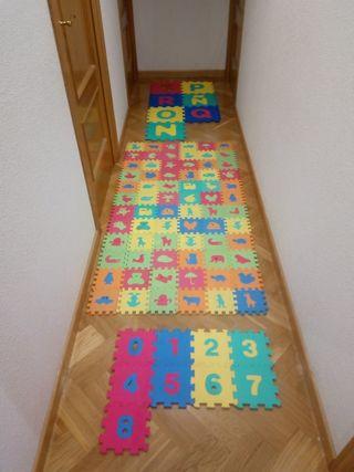 puzzles alfombras bebé. 88 piezas.