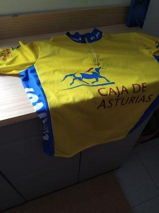 maillot lider vuelta Asturias 92