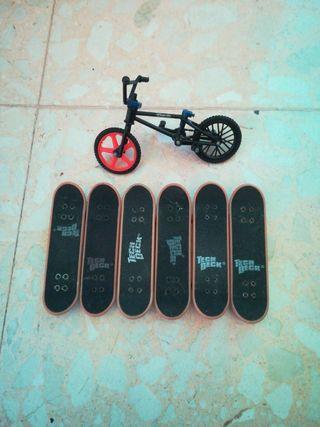 skate y bicicleta