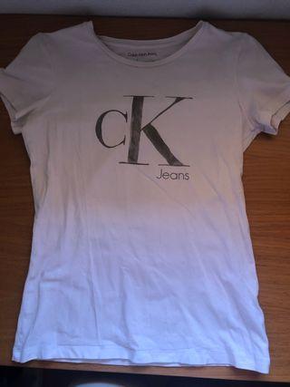 Camiseta Calvin Klein Jeans Blanca S mujer