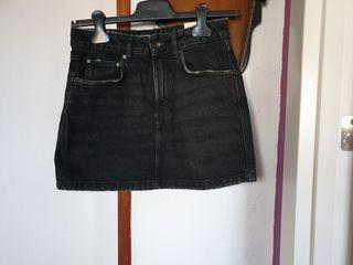 minifalda vaquera 6negra