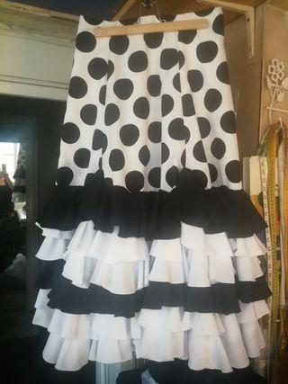 Falda flamenca talla 40