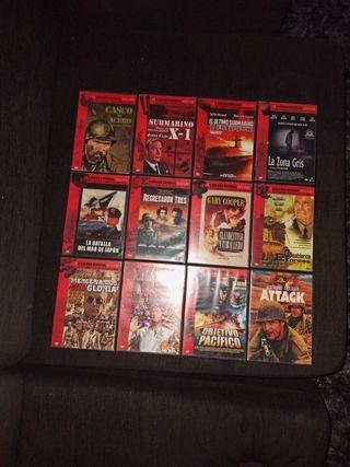 Lote 12 películas bélicas originales