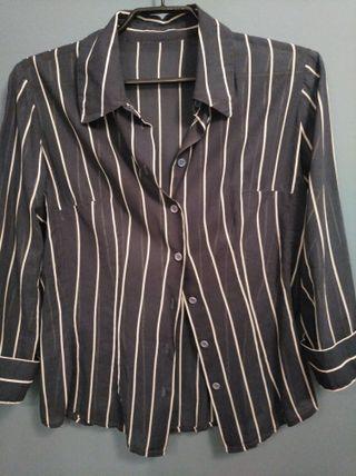 Blusa T.38-40 mujer camisa batista algodón