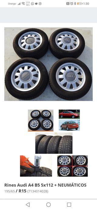 4 llantas con los neumáticos