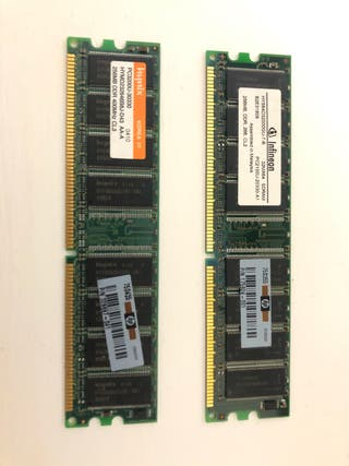 Tarjetas RAM DDR 512Mb