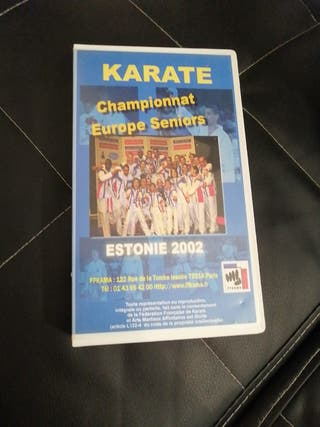 Cassette video Karaté championnat Europe seniors E