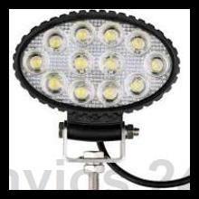 FOCO LED OVALADO 36W 12 LED TRACTORES,.