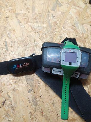 pulsometro polar ft4 + banda frecuencia cardíaca