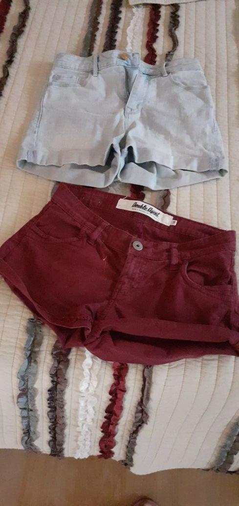 2 pantalones cortos