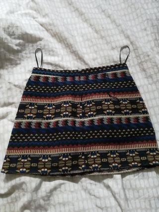 minifalda étnica talla m