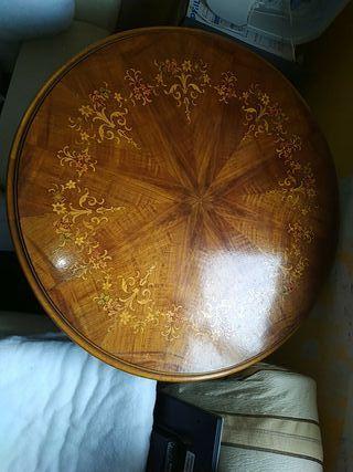 mesa madera redonda 84cm diametro