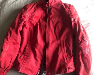 Chaqueta moto REV'IT roja mujer