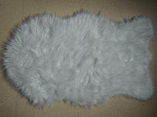 alfombra blanca de pelo